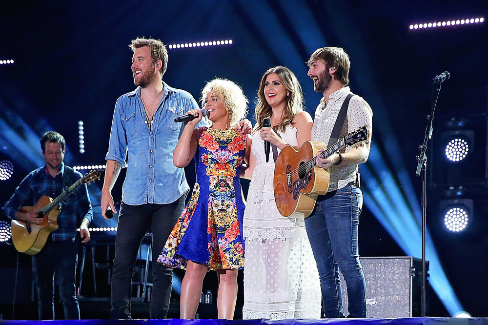 Cam performs with Lady Antebellum at Nissan Stadium during CMA Fest