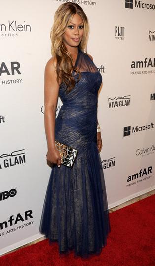 Laverne Cox, amFAR Gala 2014 NYC