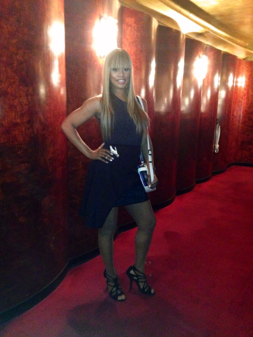Laverne Cox at the Opening Ceremony Spring/Summer 2015 Show
