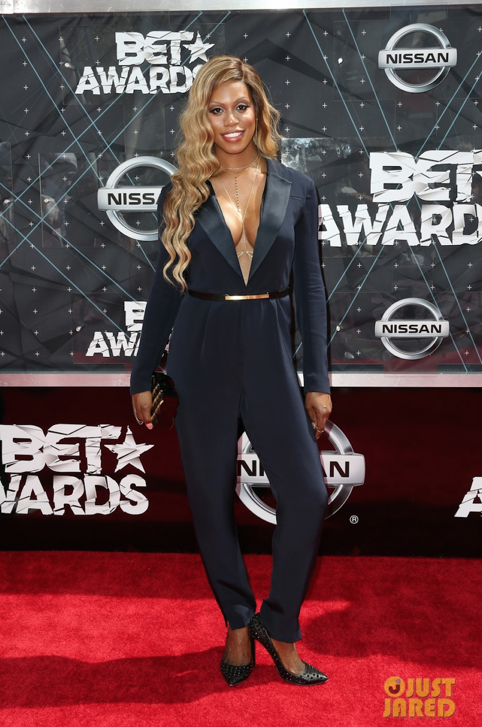 Laverne Cox BET Awards 2015 Red Carpet