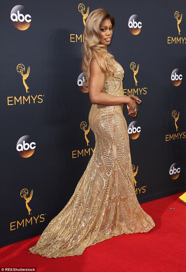 Presenter Laverne Cox at Emmys 2016