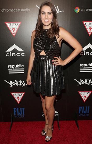 """""""Unbreakable Kimmy Schmidt's"""" Lauren Adams at VMAs Republic Records event 216"""