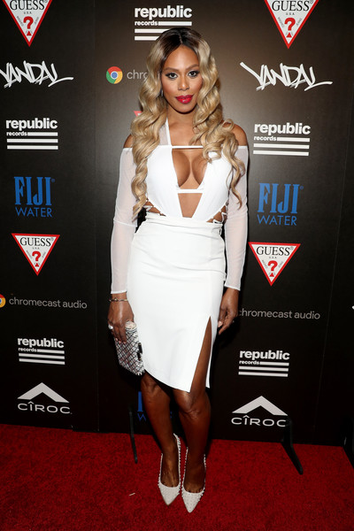 Laverne Cox at VMAs Republic Records event