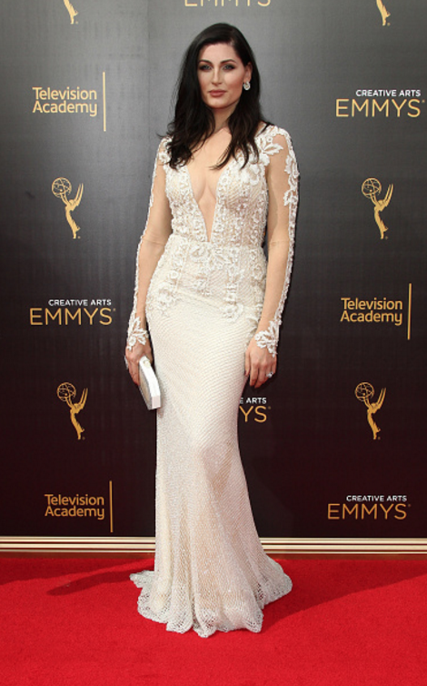 "Trace Lysette of ""Transparent"" at the2016 Creative Arts Emmys"