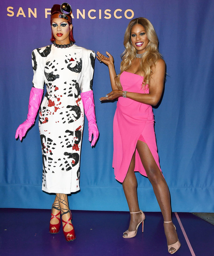 Laverne Cox Madame Tussaud's Rocky Horror Picture Show reveal