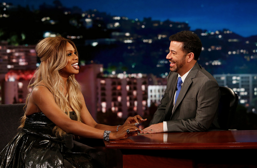 Laverne Cox, Jimmy Kimmel Live October 2016