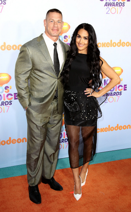Nikki Bella with John Cena at the Kids' Choice Awards