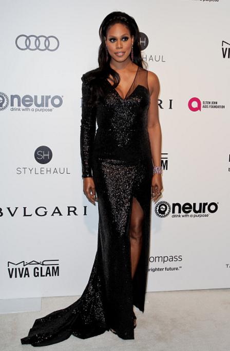 Laverne Cox, Elton John Oscars party 2017