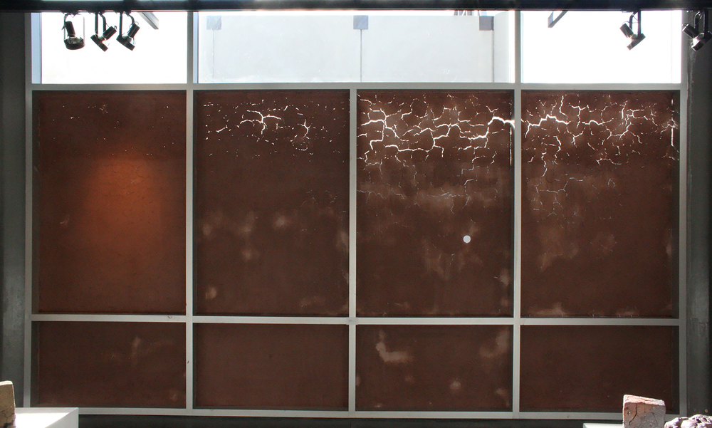 Conditional Space  Recycled Clay, Window, Sunlight 240 x 132 in  2012