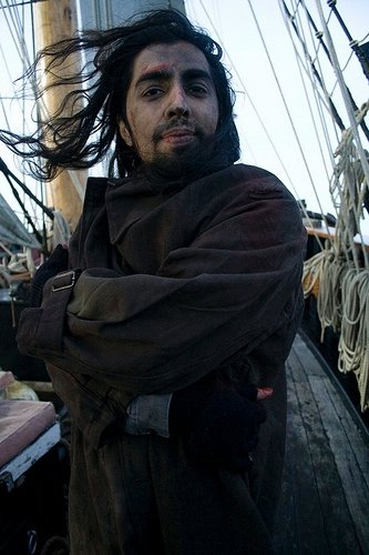 Ankit Love shooting aboard the the tall ship the Earl of Pembroke of the coast of the Duchy of Cornwall.