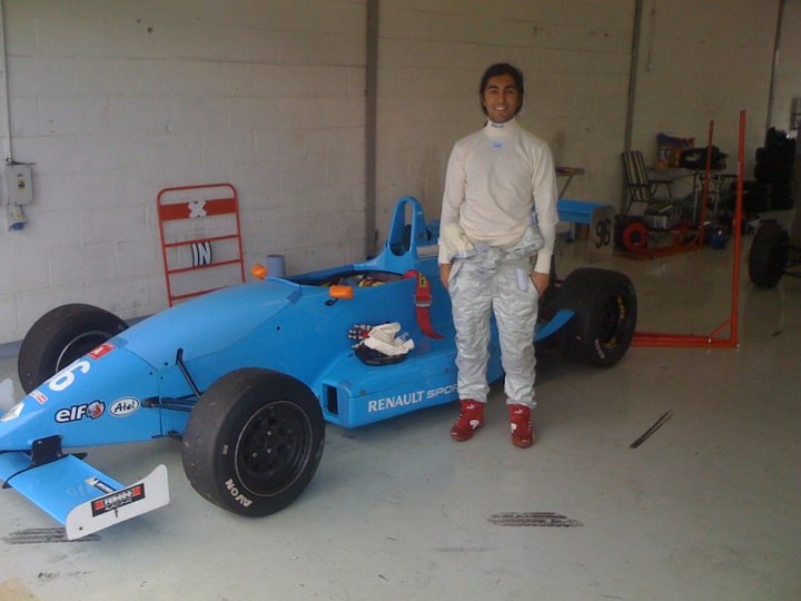 Ankit Love in his last race in Formula 4 at Silverstone racecourse for Mark Armstrong Motorsport.