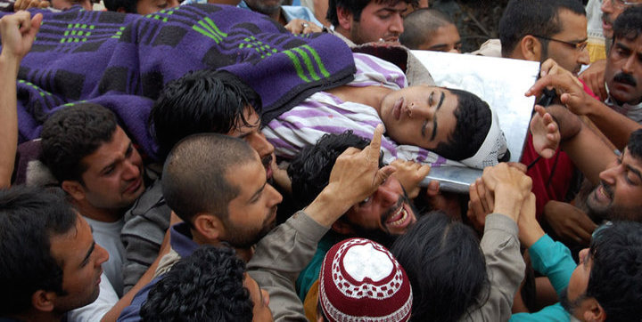 My beautiful Kashmiri boySaheed Umar Qayoom being taken In a funeral Procession. He had been ruthlessly beaten By police & CRPF on Aug21, 2011 and succumbed to his injuries.