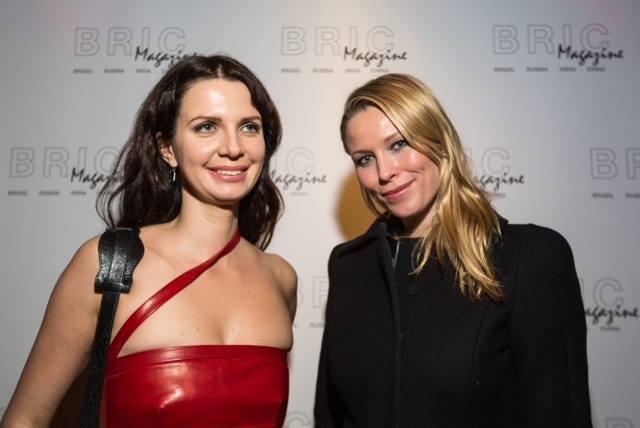 Actress Keira Chaplain, grand-daughter of Charlie Chaplain with BRIC+ magazine founder Lydia Vladimirskaya.