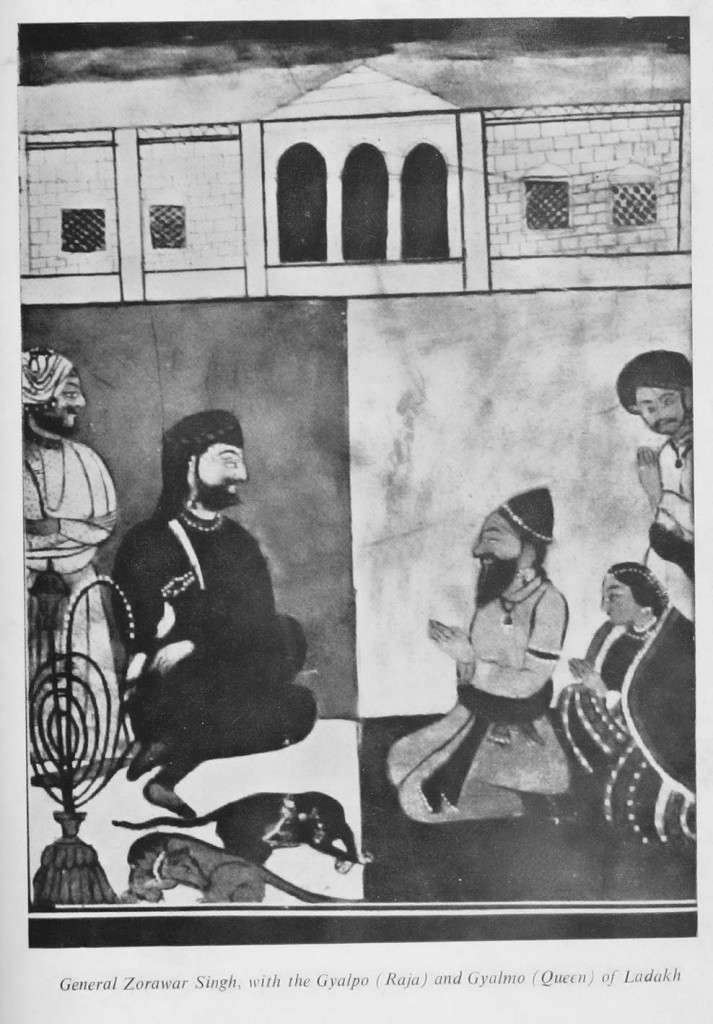 "Ankit Love's ancestor General Zorawar was the Prime Minister of the Maharaja and is known by Western historians as the ""Napoleon of India"" for his conquests of several Kingdoms in the Himalayas. Here he is depicted with the King and Queen of the Tibetan Buddhist Kingdom of Ladakh after he conquered them in the 1830s. He was killed in battle of To-yo in 1841 by the allied forces of the Dalai Lama and Emperor of China, after conquering and liberating much of Tibet from their fundamentalist and oppressive regimes. Ankit Love's ancestor General Zorawar is believed to be a descendent of the Ikshvaku dynasty that produced Gautama Buddha circa 500 BCE. While the Dalai Lama had ruled the Tibetan government since 1642 AD. In 2015, Ankit Love's page and claim to Buddhahood was censored and deleted by wikipedia, while the Dalai Lama claim to be a reincarnated spirit remains on wikipedia still, as well as other claimants to Buddhahood."