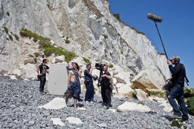"Ankit Love shooting his musical short film ""Beethoven Burst"" that premiered the 2012 Cannes Film Festival. Dover, England."
