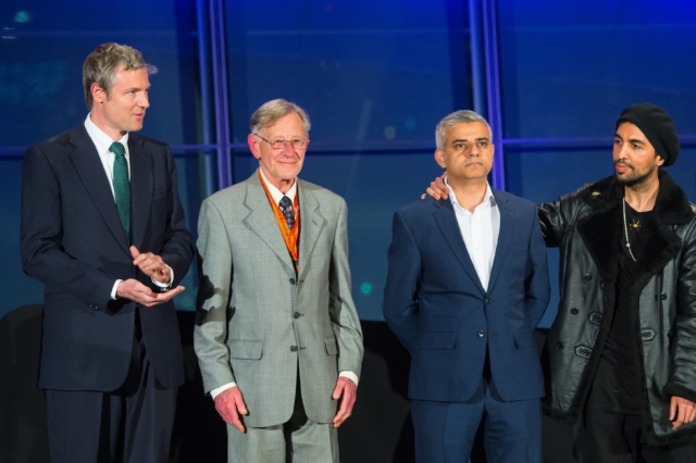 From right to left: Ankit Love (Leader of One Love Party), Sadiq Khan (Mayor of London), Lee Harris (Cannabis Is Safer Than Alcohol party), Zac Goldsmith (ex-chief editor of the Ecologist magazine). Published in the  Herald Scotland .