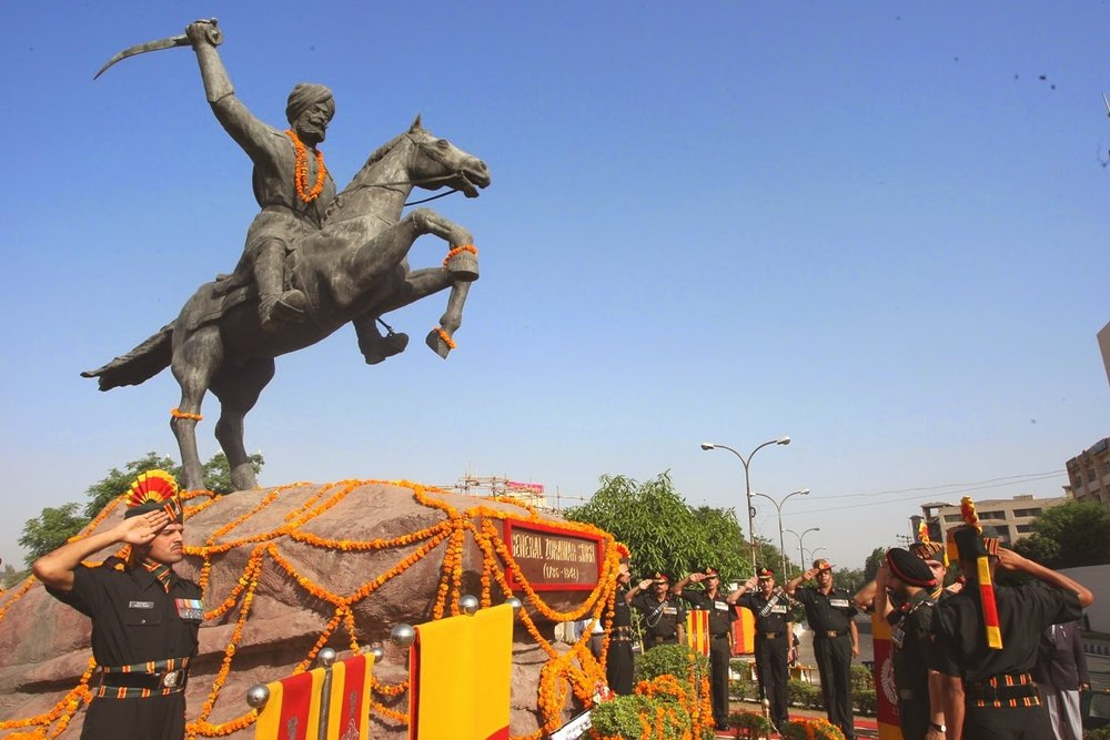 Zorawar's monument in the ancient Kingdom of Jammu.