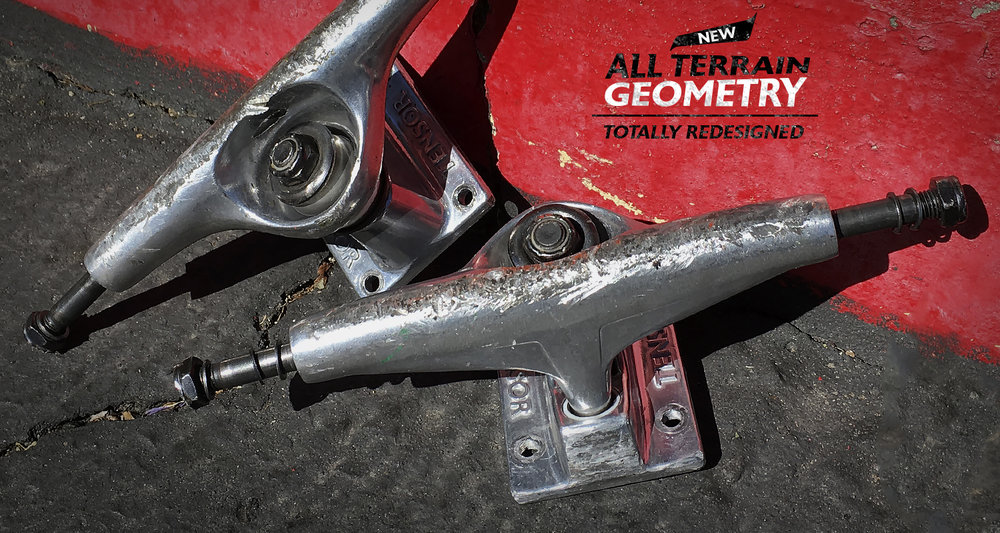 New Tensor Trucks All Terrain Geometry Fully Redesigned Mag Light and Aluminum skateboard trucks