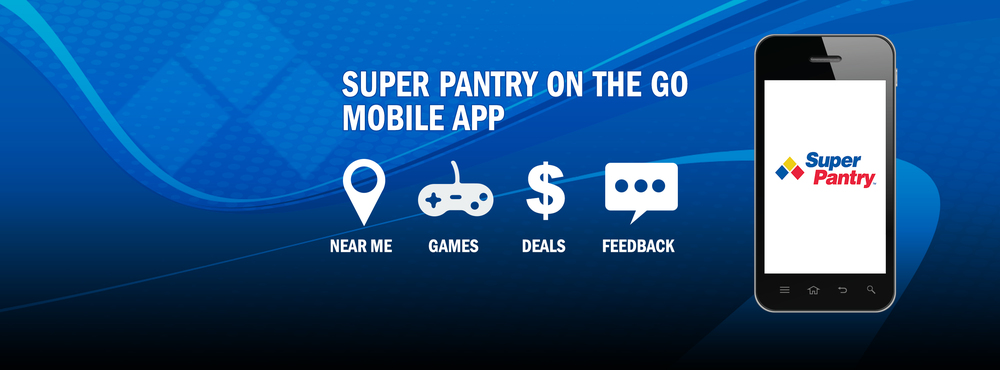 Super Pantry on the Go Mobile App Promo