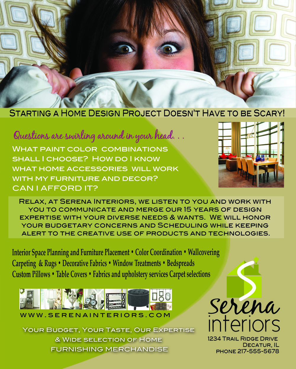 Serena Interiors Advertisement