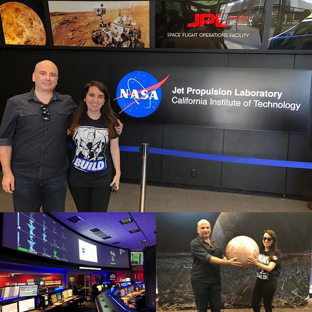 Spending my birthday at NASA/JPL with my daughter. Lots of behind the scenes fun #explorejpl #nasa #art #painting #greatbirthdaygift