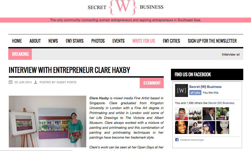 Clare Haxby feature Secret {W} Business