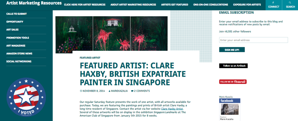 Clare Haxby Featured in Marketing Resource