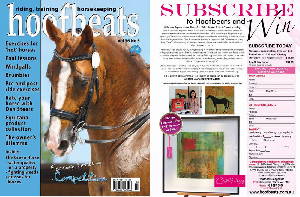 Clare Haxby Hoofbeats Magazine Print Competition