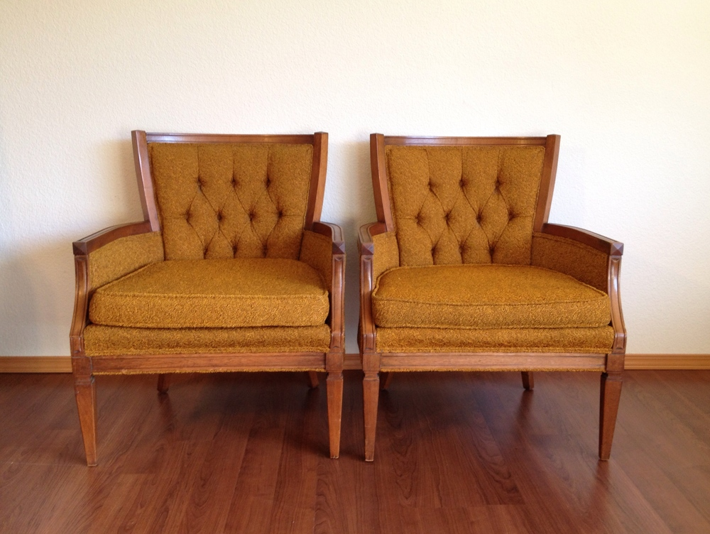 Pair Of Vintage Living Room Chairs.