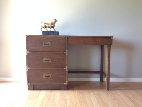 vintage Drexel campaign desk. - Sold Items — ReRunRoom Vintage Furniture + Home Decor