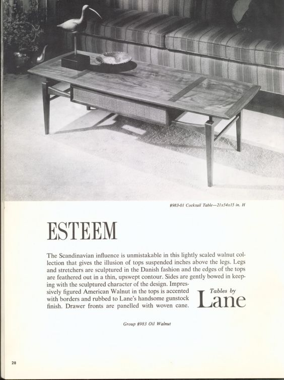 From a 1962 Lane Furniture catalog