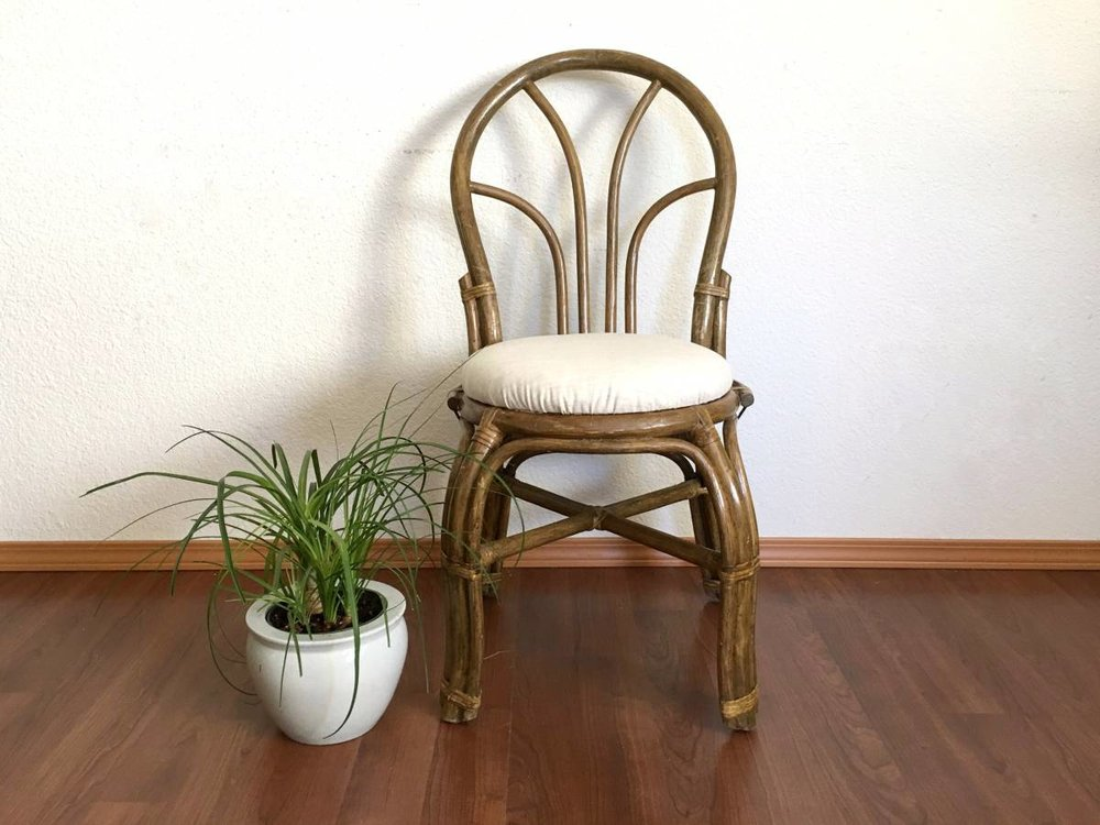 Delightful Pair Of Vintage Rattan Chairs.