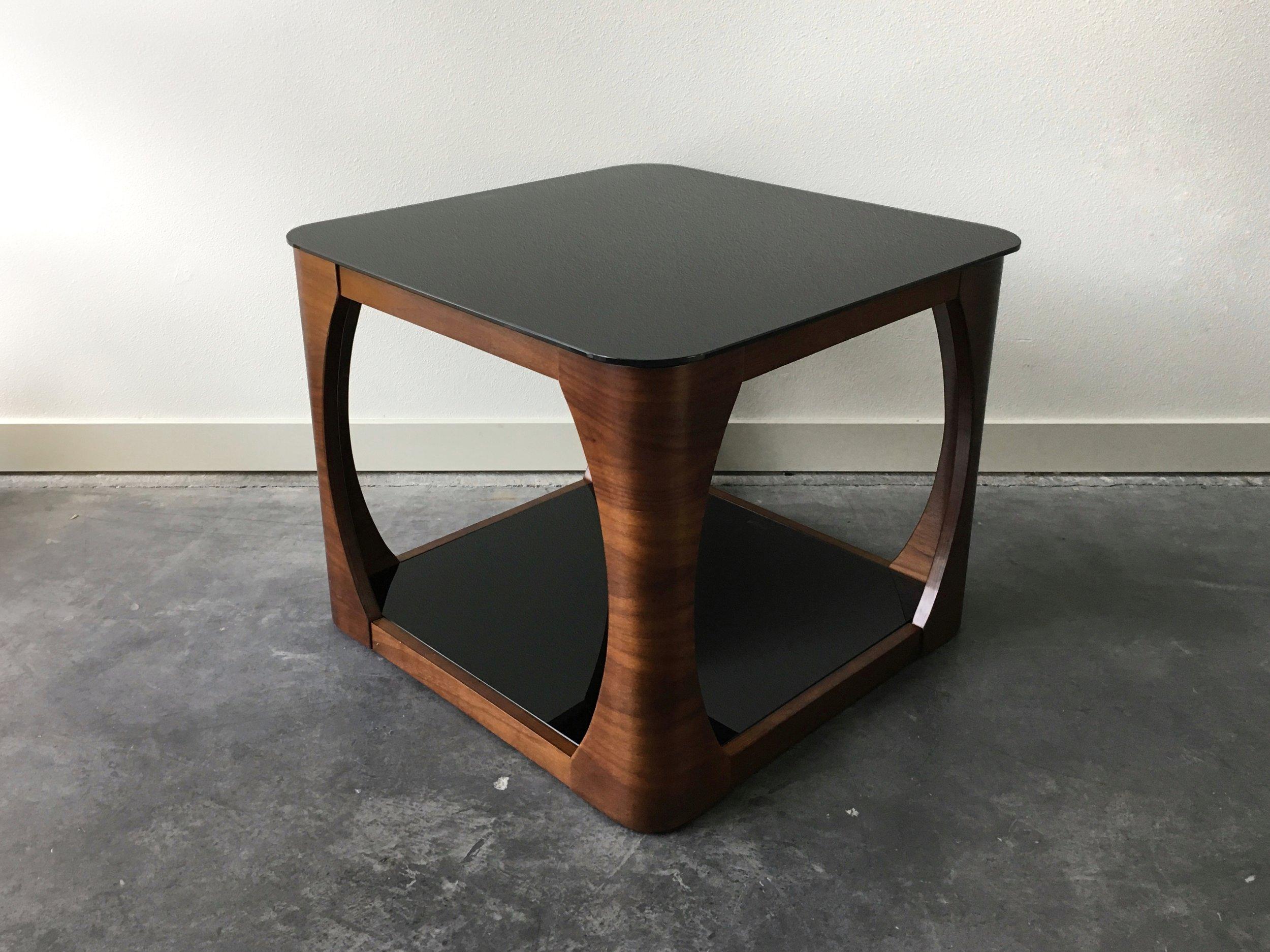 modern wood furniture. Vintage Mid Century Modern Wood + Glass Square Table. Furniture .