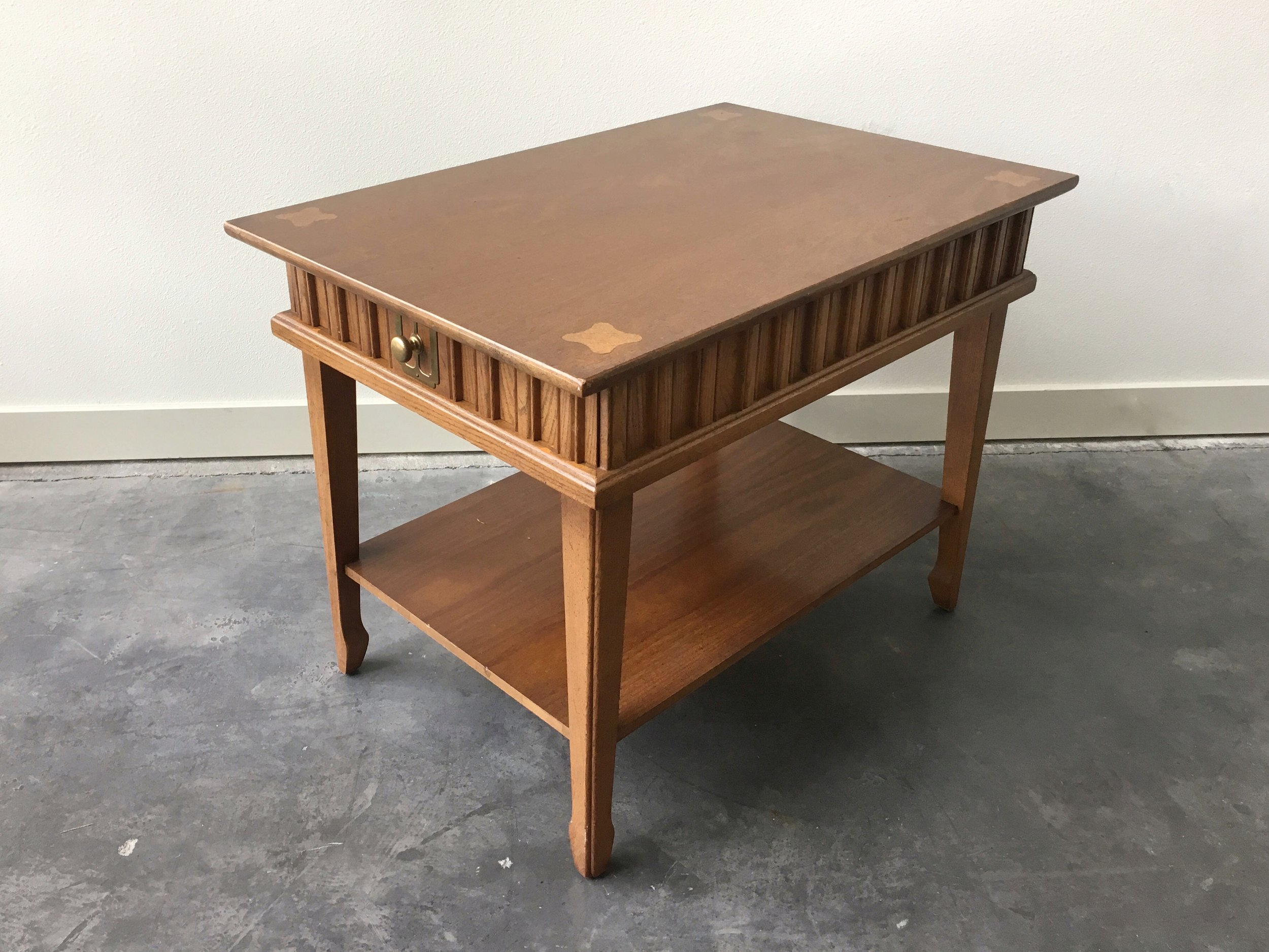Vintage Mid Century Side Table By Stanley Furniture.