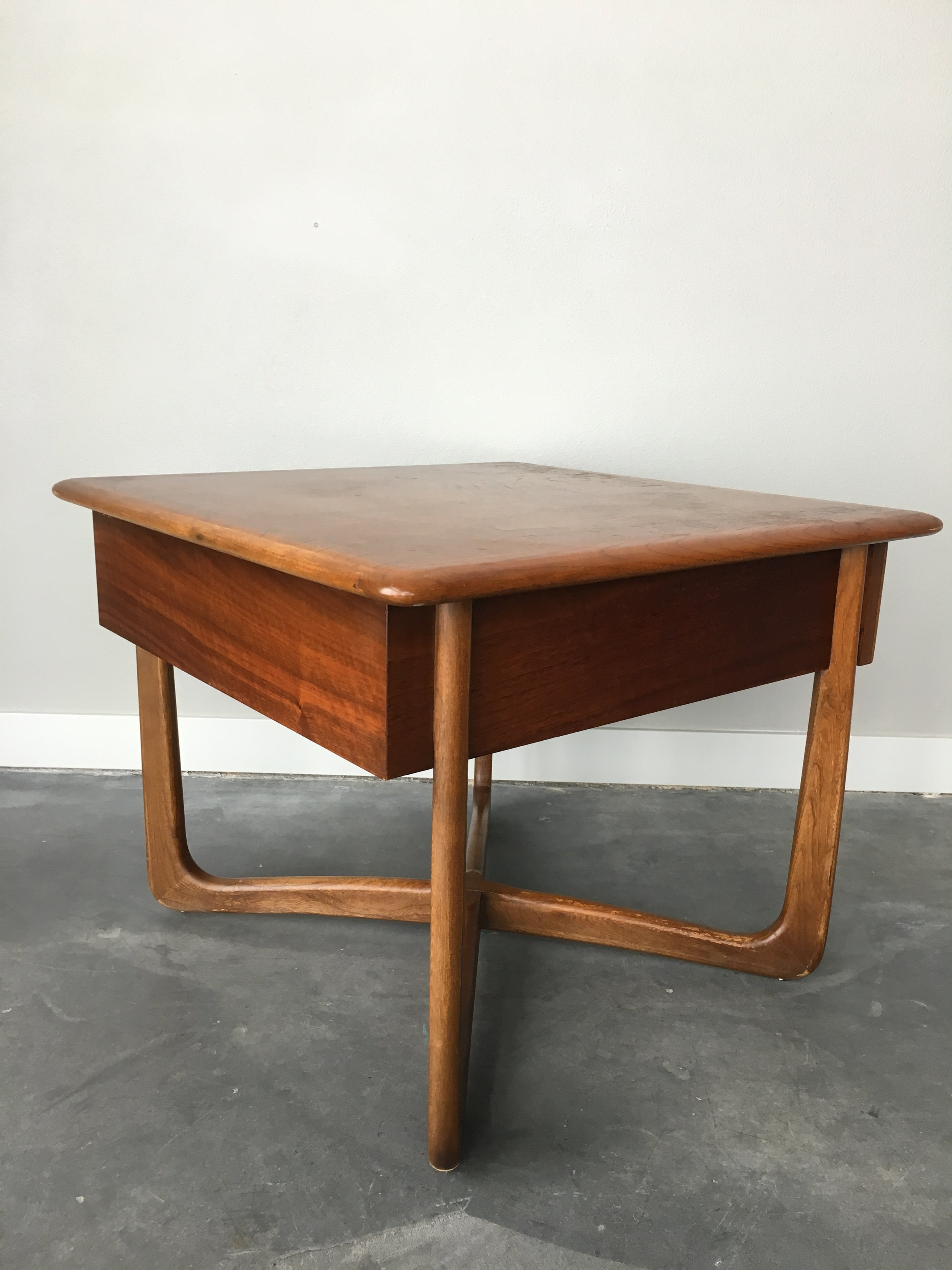 Vintage Mid Century Modern Lane Perception Square Side Table