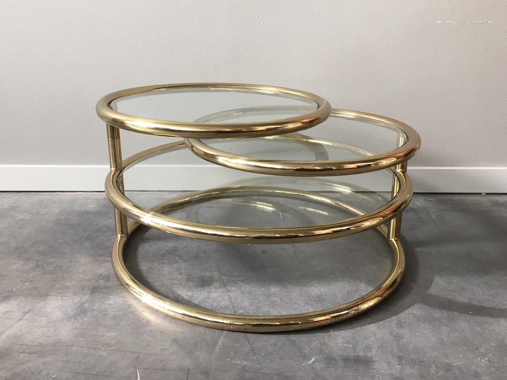 Vintage Mid Century Modern Milo Baughman Style Brass + Glass Coffee Table.  U2014 ReRunRoom | Vintage Furniture + Home Decor