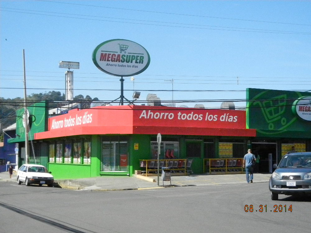 One of the town's supermarkets