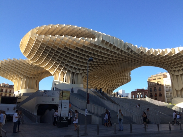 Metropol Parasol - world's largest wooden structure.  Completed in 2011.