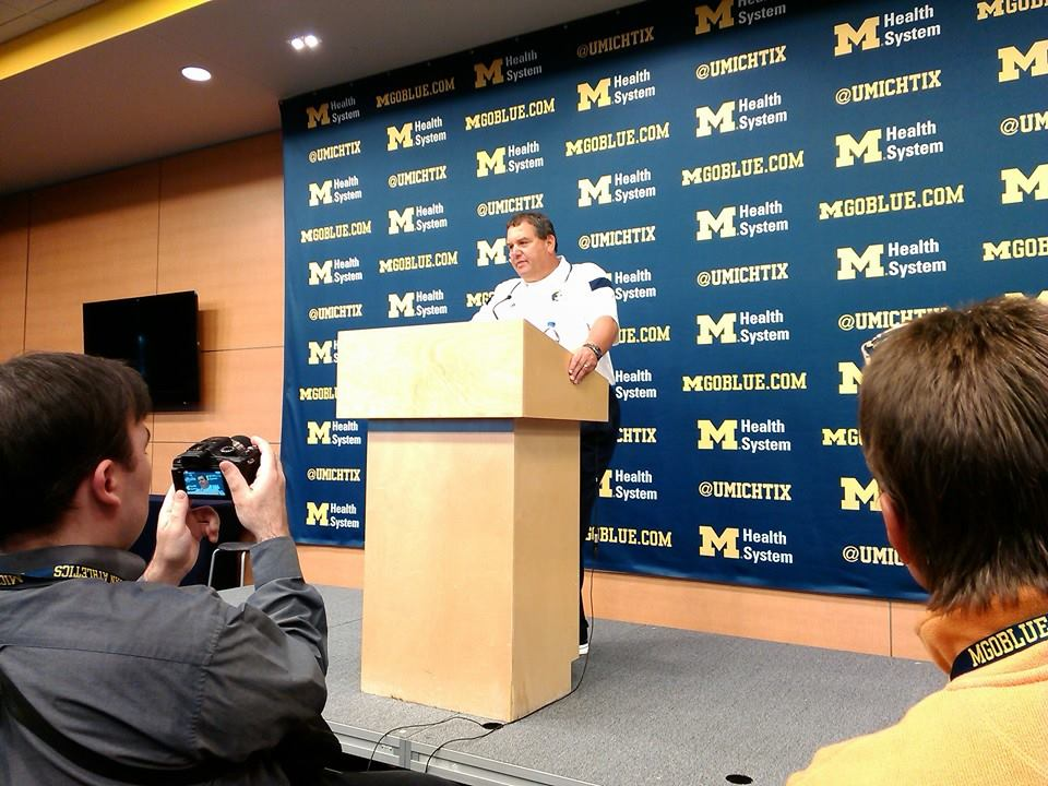 Brady Hoke addresses the media after Michigan's 34-10 win over Miami (Ohio). More to come, including audio, on SITM.