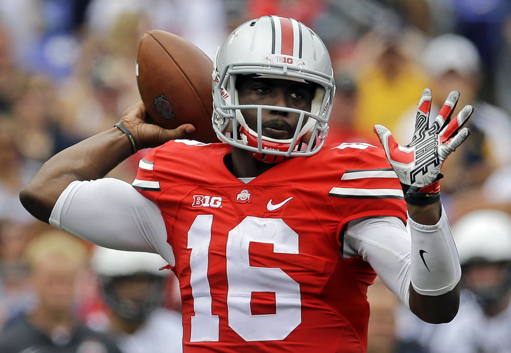 Buckeyes RS Freshman QB JT Barrett threw for 261 and three TDs and ran for 107 and two  vs. Rutgers. That's five touchdowns. Or two weeks of Michigan offense, for those counting at home.