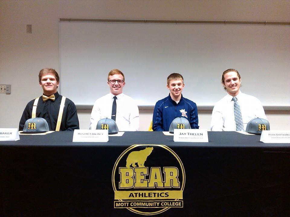 L to R: CJ Brubaker (Archbold, Ohio), Austin Tangney (Goodrich), Jay Thelen (Pewamo-Westphalia), Ryan Bartkowiak (Grand Blanc).