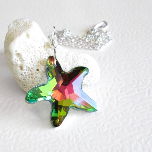 Crystal starfish necklace rainbow colours cindylouwho2 crystal starfish necklace rainbow colours aloadofball Choice Image