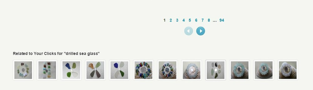 Etsy search test, related to clicks