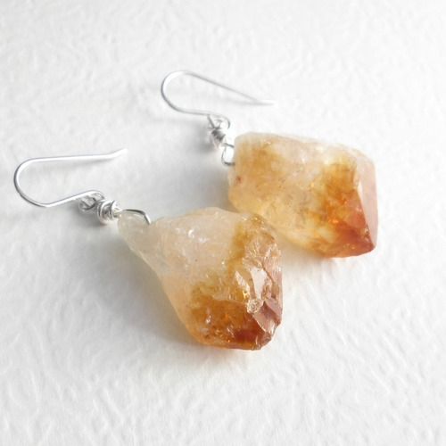 gemstone drop t shop at b w citrine fpx ct sterling teardrop precious semi macy s earrings in silver