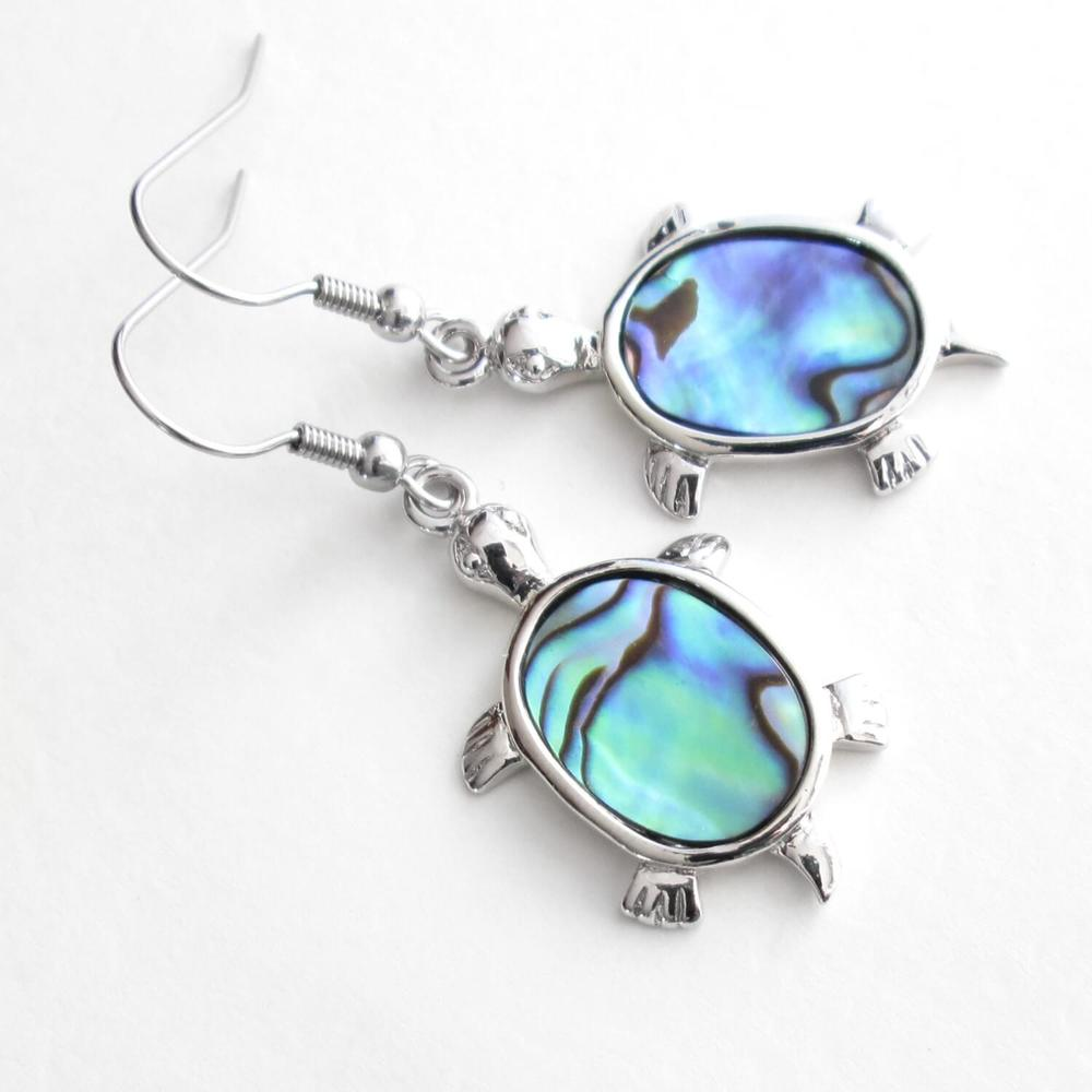 Abalone Sea Turtle Earrings