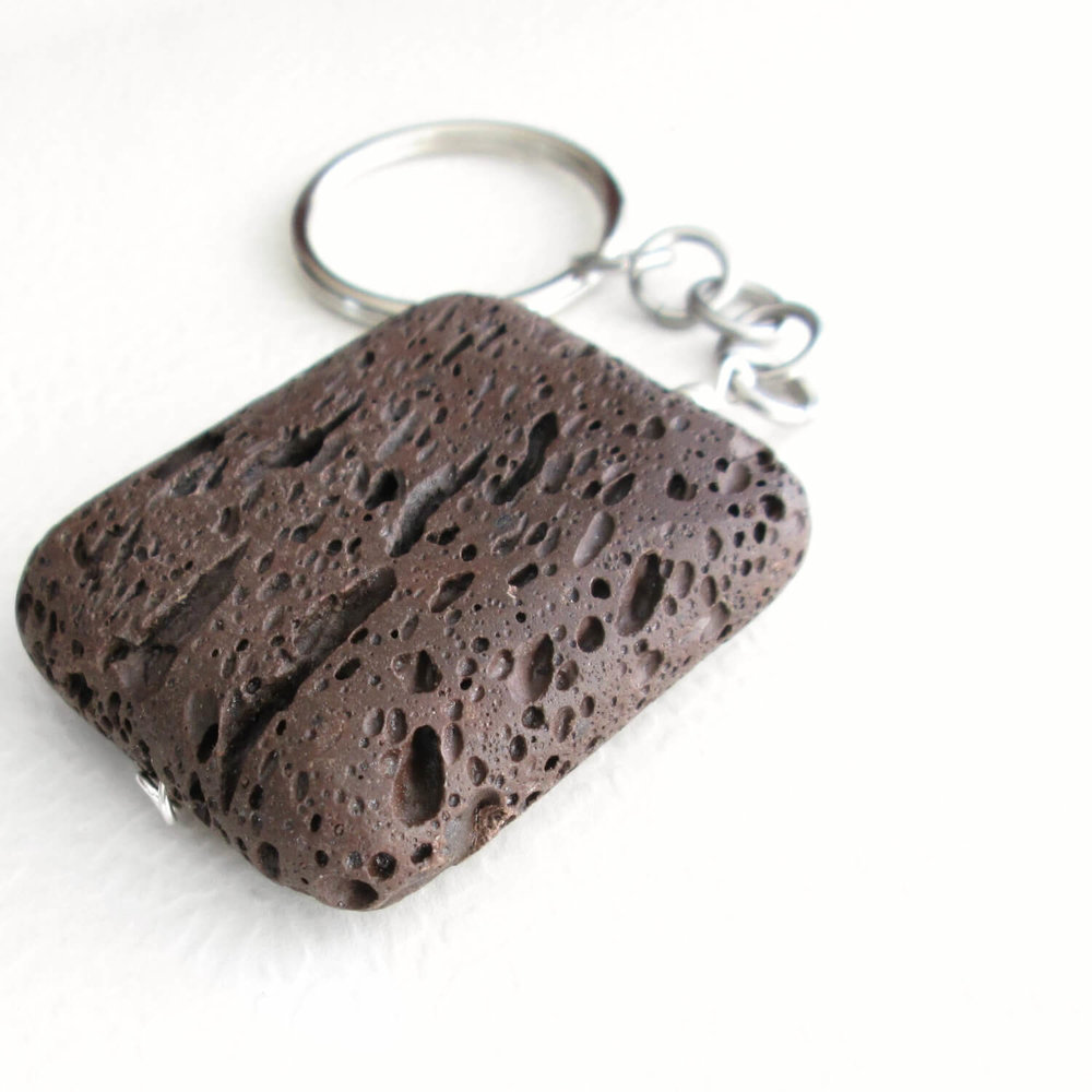 Big Brown Lava Key Chain