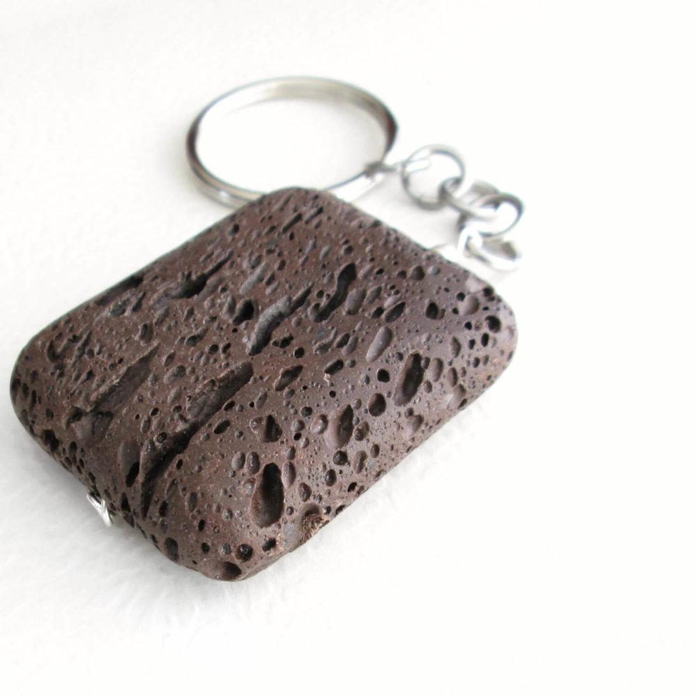 Big Brown Lava Key Chain