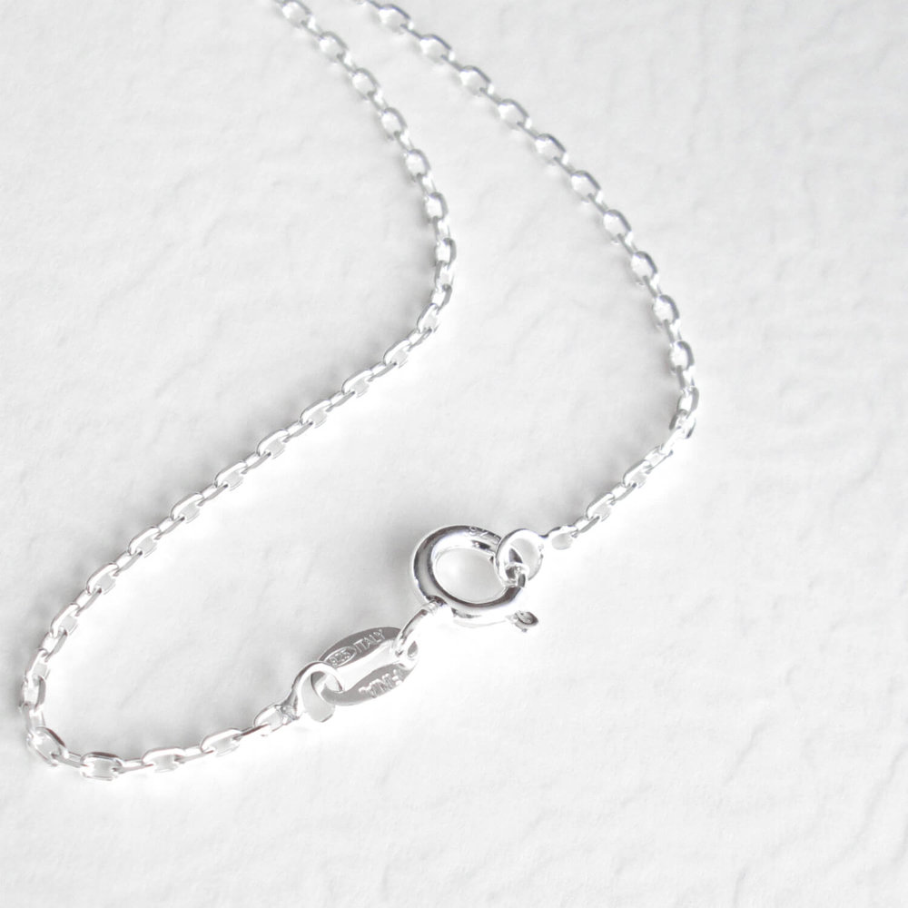 Plain Sterling Silver Anchor Chain