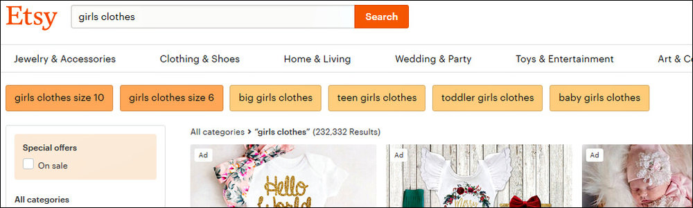 "These orange boxes at the top of the search page are called ""guided search"", which is being tested in the US. Note they aren't all the same shade of orange."