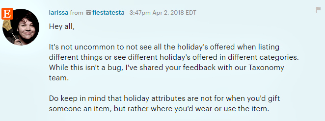 The now-standard explanation of how to use the Holiday attribute.